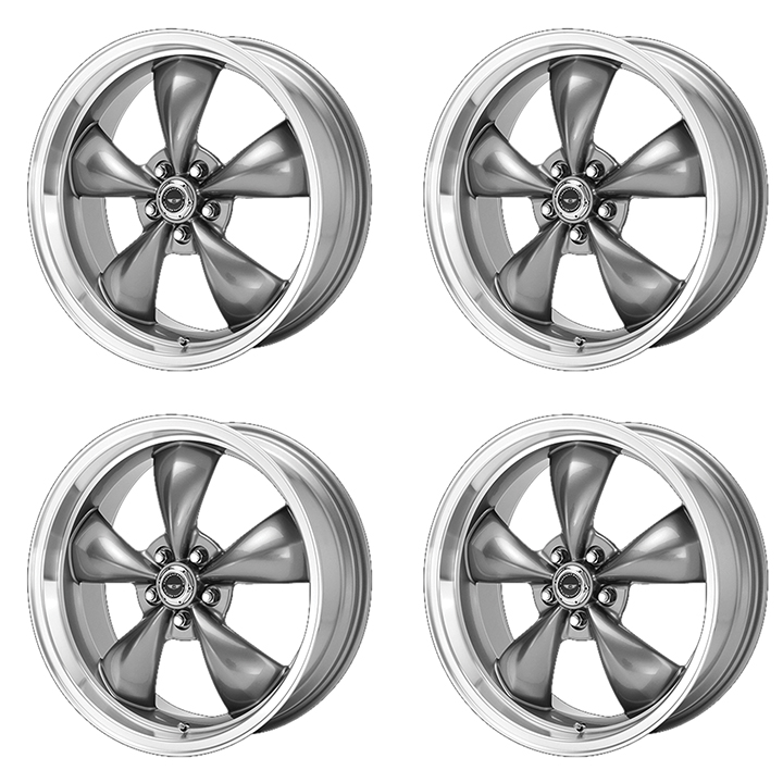 American Racing Torq Thrust M Wheel Kit 17x8 Grey With Machined Lip