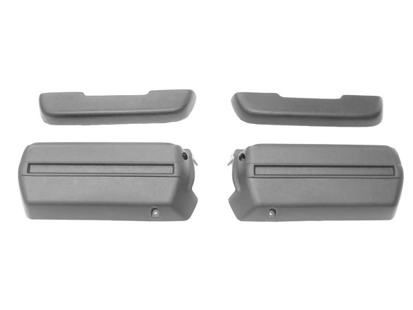 1968-1972 El Camino Front Arm Rest Pad And Base Kit Black
