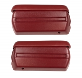1968-1969 Camaro Complete Arm Rest Pad And Base Kit In Red