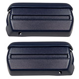 1968-1969 Camaro Complete Arm Rest Pad And Base Kit In Dark Blue
