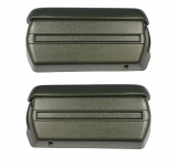 1968-1969 Camaro Complete Arm Rest Pad And Base Kit In Dark Green