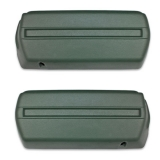 1968-1969 Camaro Arm Rest Base Set Dark Green