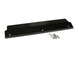 1968-1972 Nova Radiator Cover Panel 3 Bolt Black Anodized