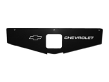 1978-1981 Camaro Radiator Support Show Panel Bowtie/Chevrolet, Black Anodized