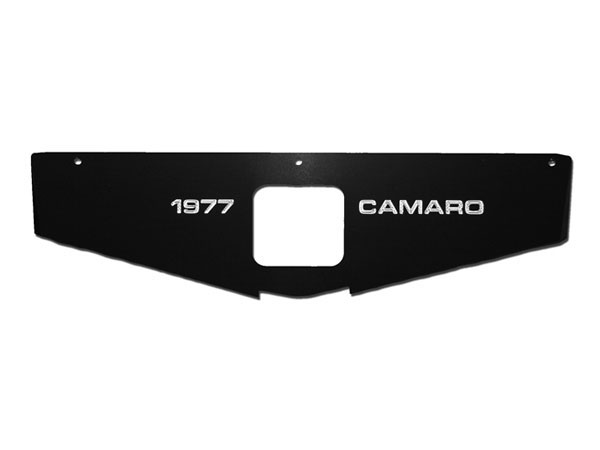 1979 Camaro Radiator Support Show Panel, Camaro with Year, Black Anodized, HD Cooling