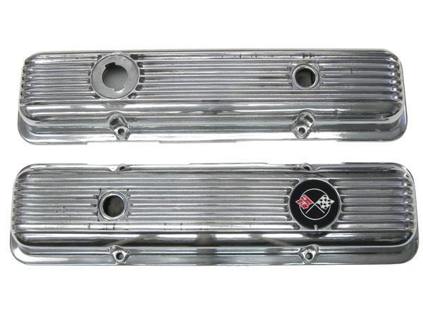 1967-1981 Camaro Small Block Finned Aluminum Valve Covers