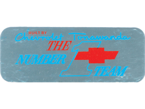 1967-1973 Chevelle Tonawanda Valve Cover Decal