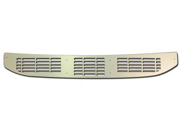 1968-1969 El Camino Cowl Vent Grille Panel Clear Anodized