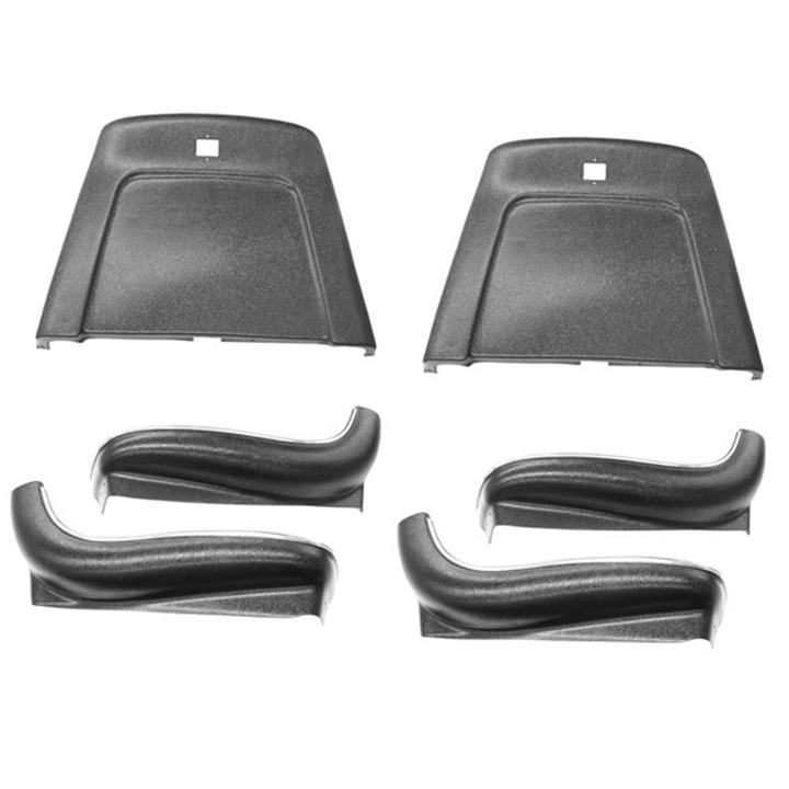 1969-1971 Nova Seat Backs And Sides Kit Black