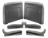 1966 Chevelle Seat Back And Sides Kit Black