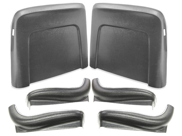 1967 Chevelle Seat Back And Sides Kit Black