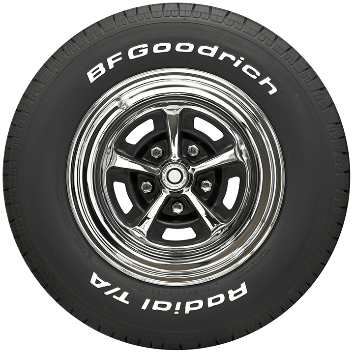BF Goodrich Radial T/A Raised White Letter Size P205-70R14