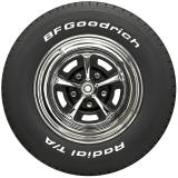 BF Goodrich Radial T/A Raised White Letter Size P215-60R14