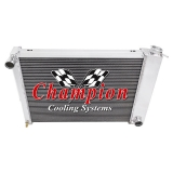 1967-1969 Camaro Champion Cooling Aluminum Radiator Champion Series 3 Core - 600-800 HP Manual Trans