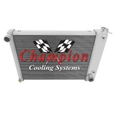 1967-1969 Camaro BB Aluminum Radiator Champion Core Series 3 Core - 600-800 Horsepower