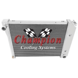 1970-1988 GM Champion Cooling Aluminum Radiator Economy Series 2 Core - 400-600 HP