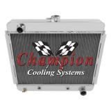 1966-1967 Nova Champion Cooling V8 24 Inch Aluminum Radiator Champion Series 3 Core - 600-800 HP