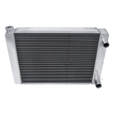 Universal 1967-2002 Camaro Champion Cooling Aluminum Radiator Passenger Side In Passenger Side Out: UN22DP
