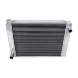Universal 1967-2002 Camaro Champion Cooling Aluminum Radiator Passenger Side In Drivers Side Out