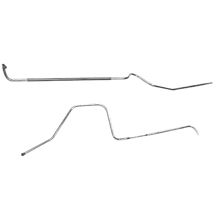 CGL6923SS 1968 1969 chevelle coupe main fuel line, 3 8 inch, stainless steel