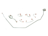1967-1968 Camaro Front Brake Line Kit, Manual Drum, Stainless Steel