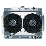 1964-1965 El Camino Cold Case Aluminum Radiator & Fan Kit, AT, Dual 12 Inch Fans & Shroud