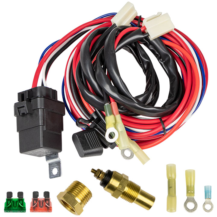 1964-1972 El Camino Cold Case Electric Fan Wiring Kit on
