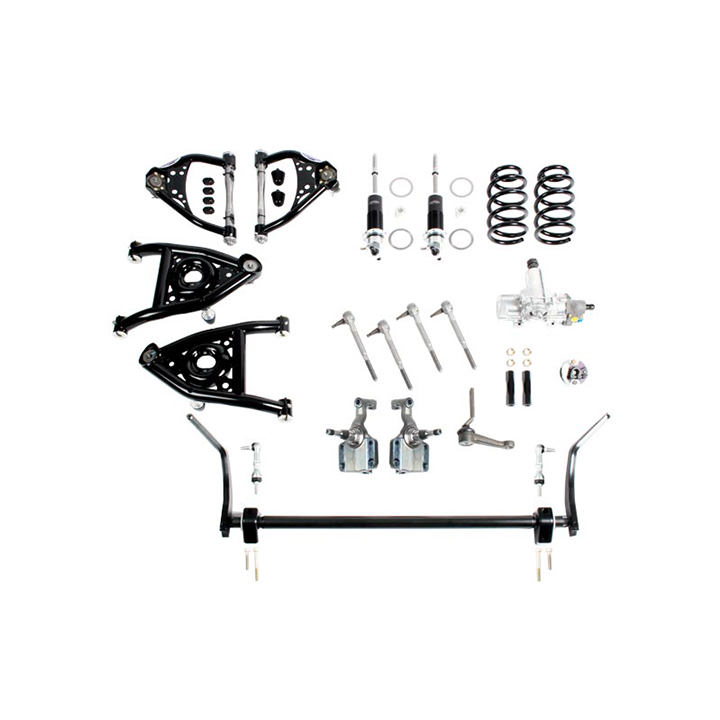 1968-1970 Chevelle Detroit Speed Front Speed Kit, Level 3, Double Adjustable, Small Block & LS