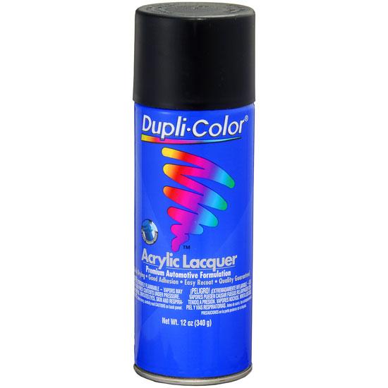 Dupli-Color Premium Lacquer; Semi-Gloss Black; 12 oz. Aerosol