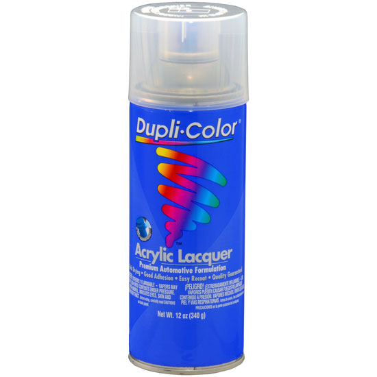 Dupli-Color Premium Lacquer; Clear; 12 oz. Aerosol (Clear Coat)