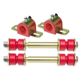 1964-72 Chevelle Front Sway Bar Kit - 1-1/4 Inch Bar - Energy Suspension Bushings End Links Red