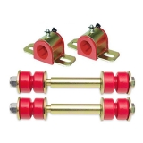 1964-72 Chevelle Front Sway Bar Kit - 1-1/8 Inch Bar - Energy Suspension Bushings End Links Red