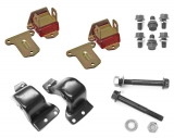 1969 Chevrolet 302 Or 350 Poly Engine Mount Kit, Red
