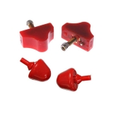1967-1969 Camaro Energy Suspension Front Control Arm Bump Stop Kit - Red