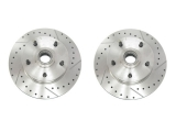 1967-1969 Camaro Drilled And Slotted Brake Rotors