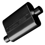 Flowmaster 40 Series Muffler, 2.25 In. Offset Inlet, 2.25 In. Center Outlet, Aggressive Tone: 42441