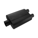 Flowmaster 40 Series Muffler, 3 In. Center Inlet, 2.5 In. Dual Outlet, Aggressive Tone: 430402