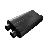 Flowmaster 50 Series Big Block Muffler, 3 In. Dual Inlet, 3.5 In. Offset Outlet, Mild Tone: 530513