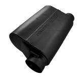 Flowmaster 40 Series Alcohol Race Muffler, 3.5 In. Offset Inlet, 3 In. Same Side Out, Aggressive