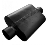 Flowmaster 30 Series Race Muffler, 4 In. Center Inlet, 4 In. Center Outlet, Aggressive Tone