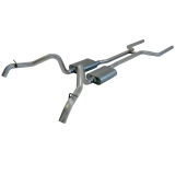 1967-1968 Camaro Flowmaster American Thunder Exhaust System, 2.5 Inch, Stainless, Dual Side Exit