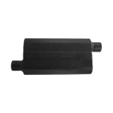Flowmaster 50 Series Delta Muffler 409S, 2.5 In. Offset Inlet, 2.5 In. Offset Outlet, Moderate