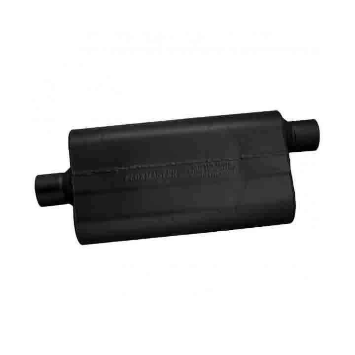 """Flowmaster 942552 50 Series Delta Flow Muffler 2.5/"""" Center Inlet 2.5/"""" Offset Out"""