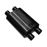 Flowmaster Super 40 Series Muffler, 2.5 In. Dual Inlet, 2.5 In. Dual Outlet, Aggressive: 9525454