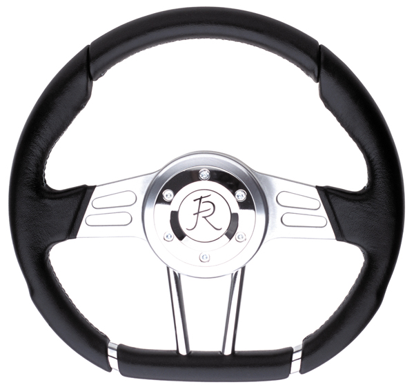 Flaming River Camaro D Wheel Steering Wheel, Black: FR20130BK