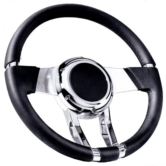 Flaming River Camaro WaterFall Steering Wheel, Black: FR20150