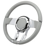 Flaming River Camaro WaterFall Steering Wheel, Light Grey