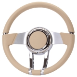 Flaming River Camaro WaterFall Steering Wheel, Tan