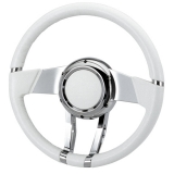Flaming River Camaro WaterFall Steering Wheel, White