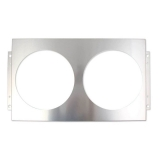 1982-1992 Camaro Frostbite Direct Fit Aluminum Fan Shroud, 2 x 12 In. Openings: FB523